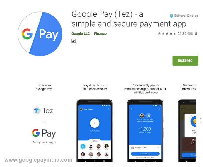 Download Google Pay App for Android - GPay India